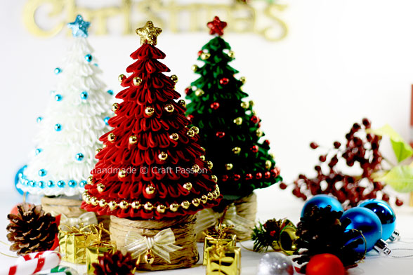 kanzashi Christmas tree