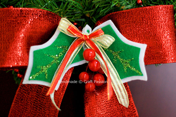 diy holly berry ornament