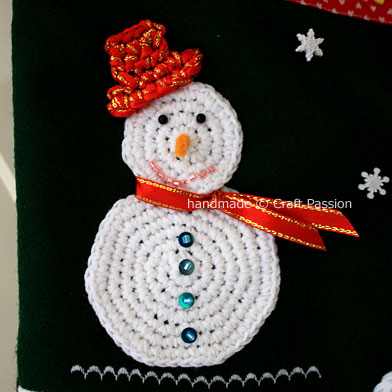 Snowman Christmas Free Crochet Pattern Craft Passion