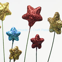diy glitter star