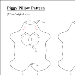 sew piggy pillow