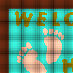 Welcome Rug Pattern