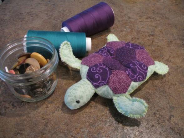 small turtle pincushion