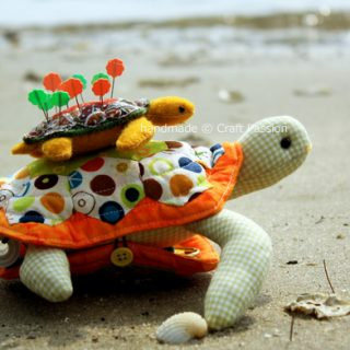 Turtle Pincushion Sewing Pattern (2 Sizes)