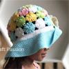 Yoyo-Puff Wide Brim Hat For Girl