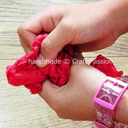 instruction to make tissue flower