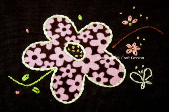 Couching On Flower Applique