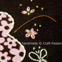 Embroidery Couching On Flower