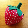 Strawberry Pincushion by Embroideroo