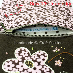 TriFold Floral Wallet For Lady