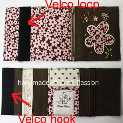 TriFold Floral Wallet For Lady Velco