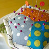 Hex Pincushion by A Stitch In Dye