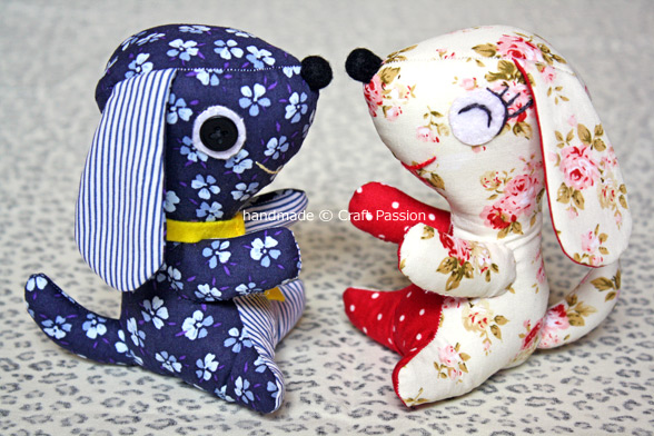Sewing cute small puppy plush toy free pattern tutorial
