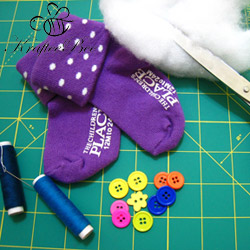 Materials for Sewing Sock Kitty