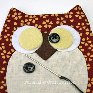 Sewing Owl Key Chain Holder