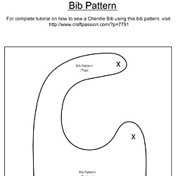 Chenille Bib Free Sewing Pattern Amp Tutorial Craft Passion
