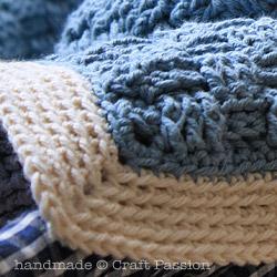 Crochet Basket Weave Afghan Baby Blanket