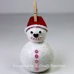 How to make snowman ornament