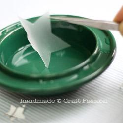 Frosted sticker Glass Jar