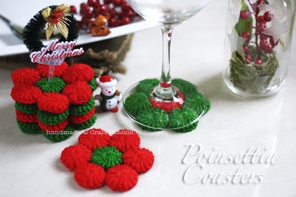 poinsettia coaster 1