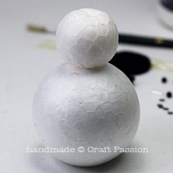 snowman ornament DIY 3