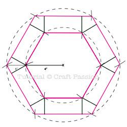 flattenable hexagon basket drawing