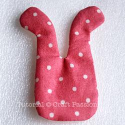 making mini bunny sachet