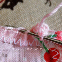 crochet lace trim hanky