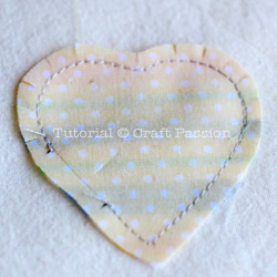 sew Heart Shaped Sachet