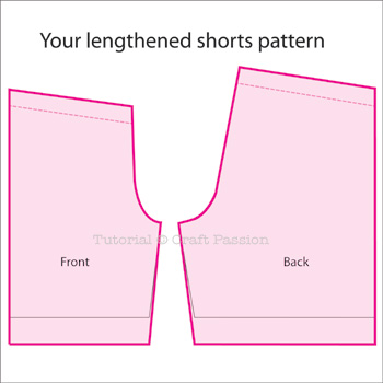 Altering Sewing Pattern Shorts Length Craft Passion Page 2 Of 2