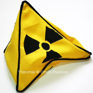 Safety Sign Triangle Pillow Cover