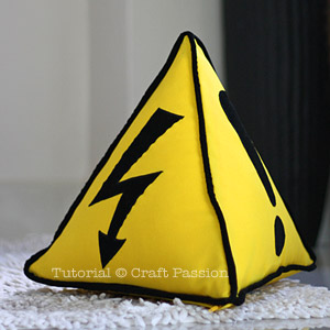 Safety Sign Triangle Throw Pillow