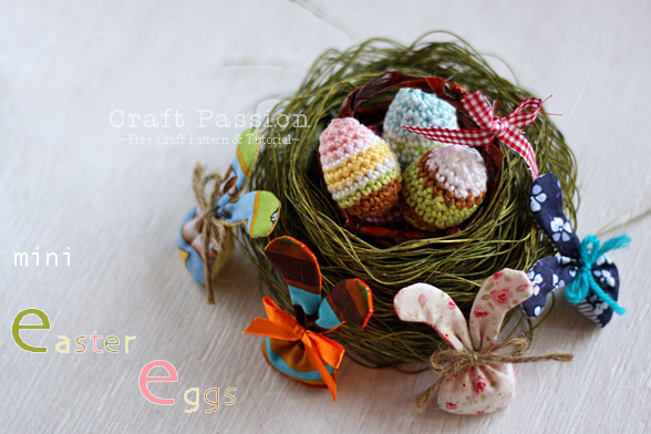 These Mini Amigurumi Easter Eggs are quick and easy to crochet (with written pattern) and require only a small amount of yarns of various colors. You may use-up your left-over stashed yarns from previous project to make various sizes of colorful Mini Easter Eggs Amigurumi.