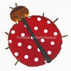 Lady Bug garden bugs appliques