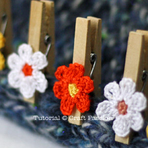 crochet clothespin flower pattern