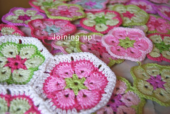 Crochet African Flower Join