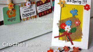 leaf butterfly flower crochet pattern