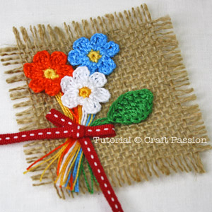 crochet flower bouquet pattern