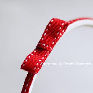 Attach ribbon bow on headband