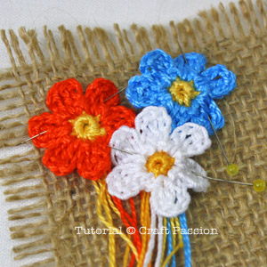 sew crochet flower bouquet
