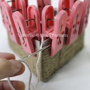 weave basket cardboard template