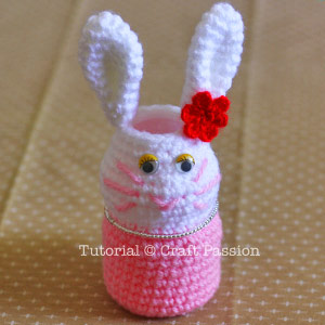 vitagen bottle bunny pencil holder