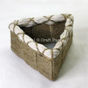 Jute Twine Woven Basket