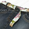 recycle denim hem into belt