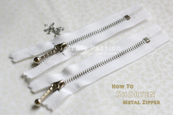 How To Shorten Metal Zipper