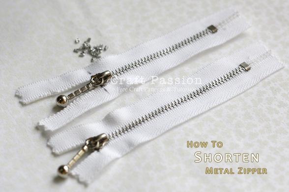 8b1ce3b87c56 Shorten Metal Zipper - How To - DIY Tutorial