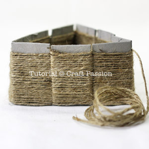 Weave basket with jute twine