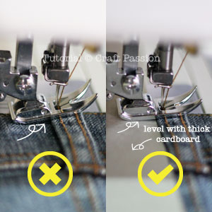 sew with different thickness