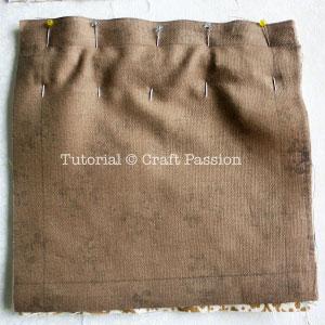 attach lining on purse