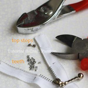 shorten metal zipper